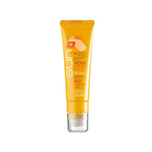 Dúo Crema Facial Anti-Brillos SPF20/SPF30 AVON Sun
